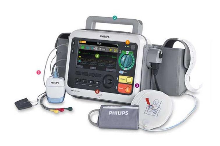 Defibrillator und Defibrillator Monitor Reinigung bei Coronavirus und Covid19