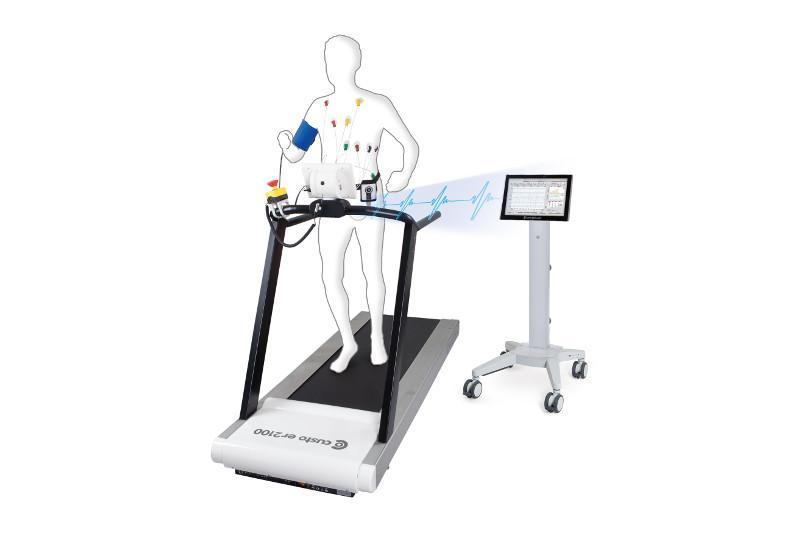 Belastungs EKG Messplatz für Schweizer Arzt Praxis