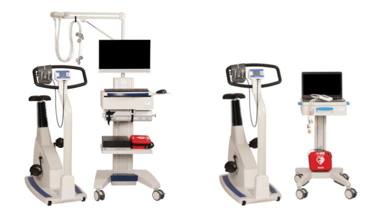 EKG Messplatz mit Fahrrad und PC von custo med