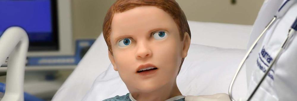 Hal Pediatric ist der Patientensimulator eines Kindes mit Mimik von Gaumard und in der Schweiz