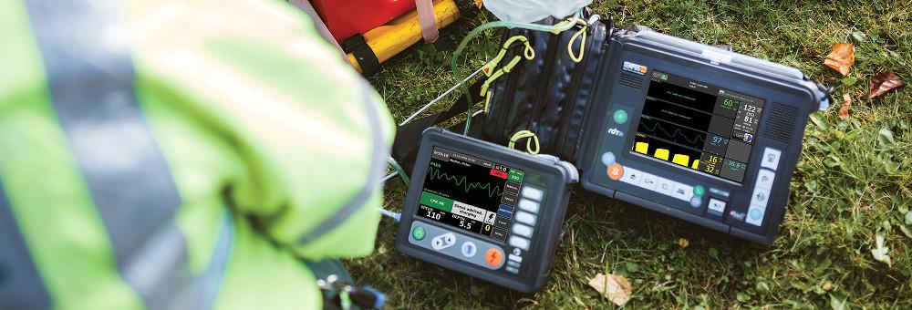 Halterungen für Tempus Pro Monitor und Tempus LS Defibrillator in Ambulanz und Rettungsdienst