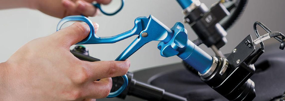 Laparoskopie Training mit medizinischer Simulation Lap Mentor
