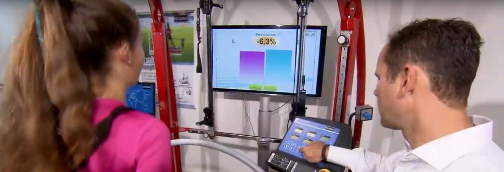 Medizinischer Laufband ergometer fü Diagnostik von hp cosmos und Schweizer Partner