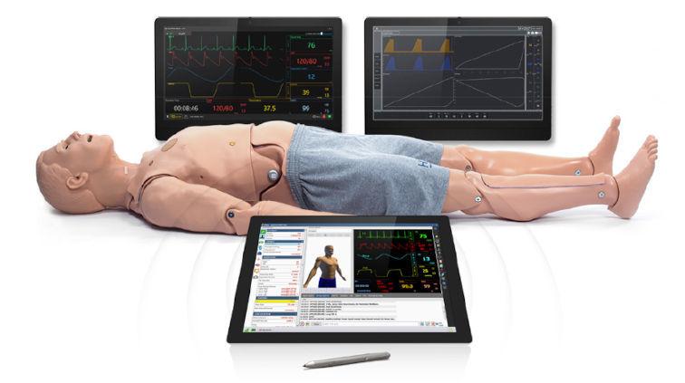 mechanische Beatmung an Erwachsenen, Kind, Neugeborenen lernen mit Simulation