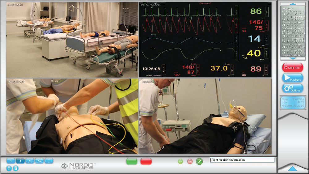 Aufzeichnung von medizinischen Simulationen mit Software und Hardware