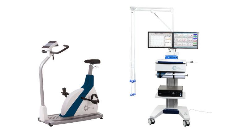 Spirometrie mit integriertem EKG samt Fahrradergometer