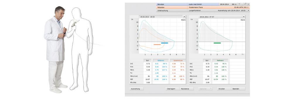 spirometrie software für custo med spirometer