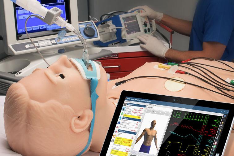 In der Medizin Online Lernen und Telemedizin während Covid-19 im Spital