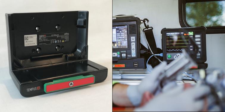 Halterung Defibrillator Ambulanzfahrzeug Schweiz Philips RDT Tempus LS